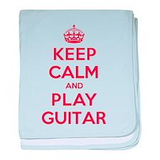 Keep Calm Play Guitar baby blanket