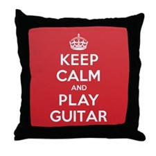 Keep Calm Play Guitar Throw Pillow