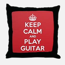 Keep Calm Play Guitar Throw Pillow