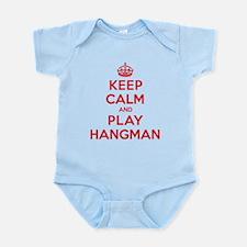 Keep Calm Play Hangman Infant Bodysuit