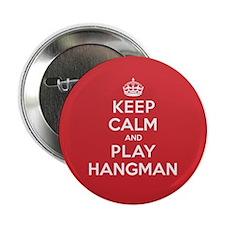 "Keep Calm Play Hangman 2.25"" Button (10 pack)"