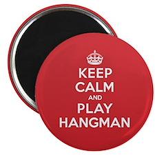 Keep Calm Play Hangman Magnet