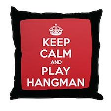 Keep Calm Play Hangman Throw Pillow