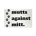 mutts against mitt Rectangle Magnet