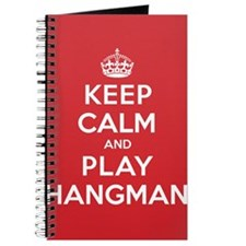 Keep Calm Play Hangman Journal