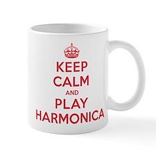 Keep Calm Play Harmonica Mug