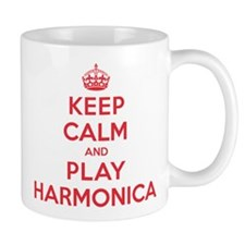 Keep Calm Play Harmonica Mug