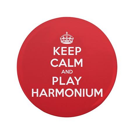 "Keep Calm Play Harmonium 3.5"" Button"