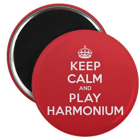 Keep Calm Play Harmonium Magnet