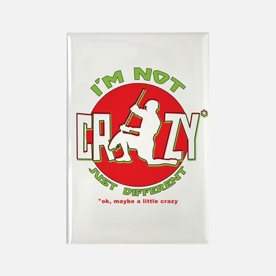 Im Not Crazy (lacrosse) Rectangle Magnet