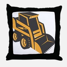 skid steer digger truck Throw Pillow