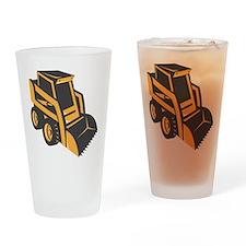 skid steer digger truck Drinking Glass