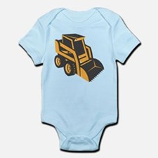skid steer digger truck Infant Bodysuit