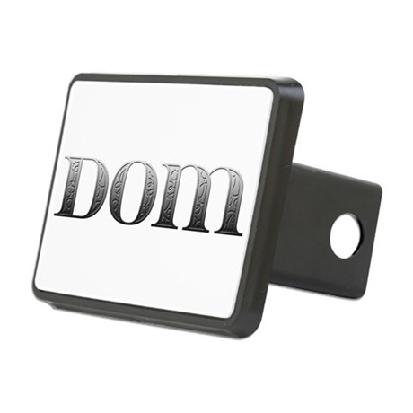 Dom Carved Metal Rectangular Hitch Cover