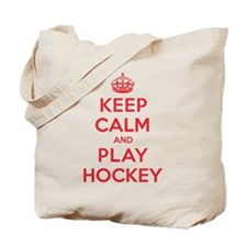 Keep Calm Play Hockey Tote Bag