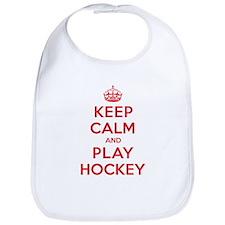 Keep Calm Play Hockey Bib