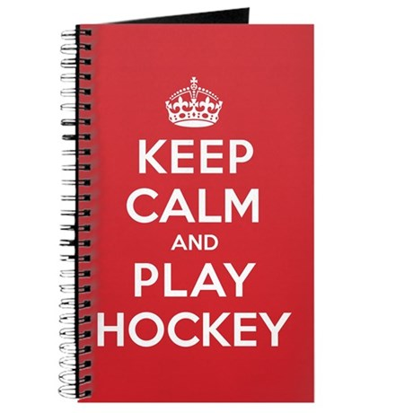 Keep Calm Play Hockey Journal