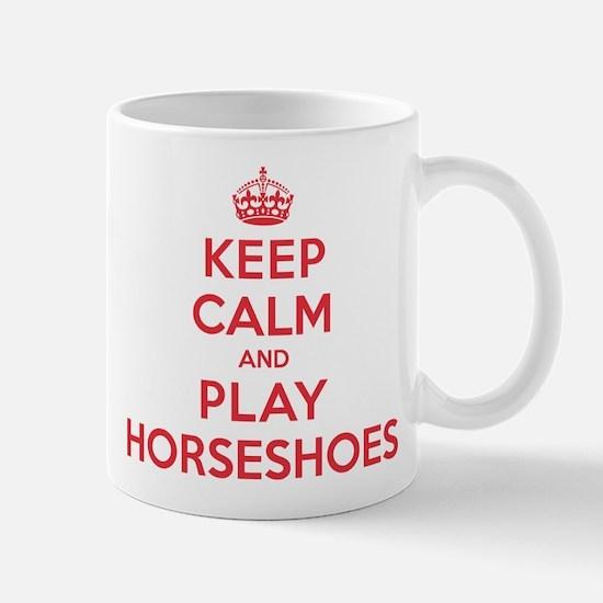 Keep Calm Play Horseshoes Mug