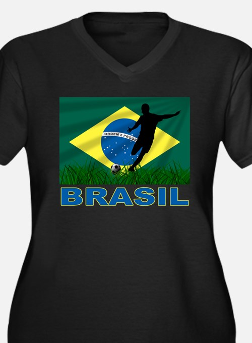 Brazil Soccer Women's Plus Size Clothing