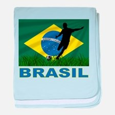 Brasil World Cup Soccer baby blanket
