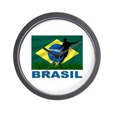 Brasil World Cup Soccer Wall Clock
