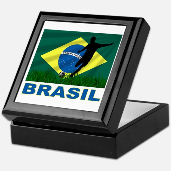 Brasil World Cup Soccer Keepsake Box