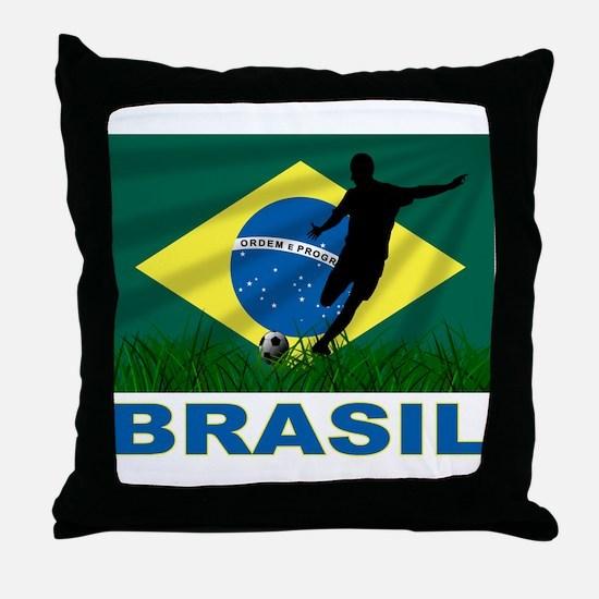 Brasil World Cup Soccer Throw Pillow
