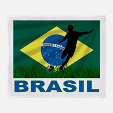 Brasil World Cup Soccer Throw Blanket