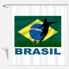 Brasil World Cup Soccer Shower Curtain