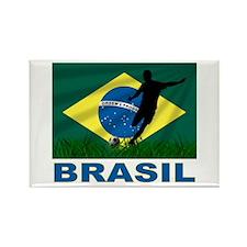 Brasil World Cup Soccer Rectangle Magnet