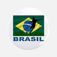 "Brasil World Cup Soccer 3.5"" Button"