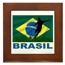 Brasil World Cup Soccer Framed Tile