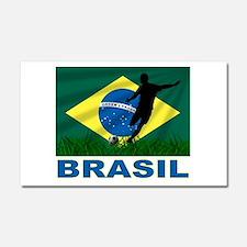 Brasil World Cup Soccer Car Magnet 20 x 12