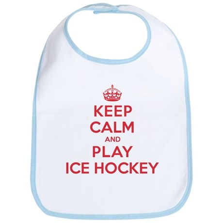Keep Calm Play Ice Hockey Bib