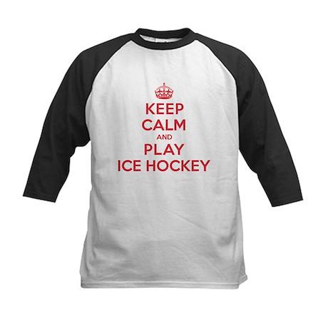 Keep Calm Play Ice Hockey Kids Baseball Jersey