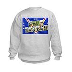 Fort Devens Massachusetts (Front) Kids Sweatshirt