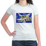 Fort Devens Massachusetts Jr. Ringer T-Shirt