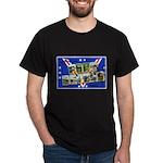 Fort Devens Massachusetts (Front) Black T-Shirt