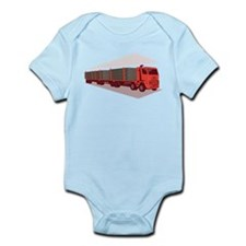 logging truck and trailer retro style Infant Bodys