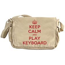 Keep Calm Play Keyboard Messenger Bag