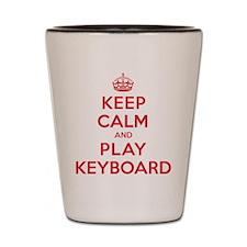 Keep Calm Play Keyboard Shot Glass