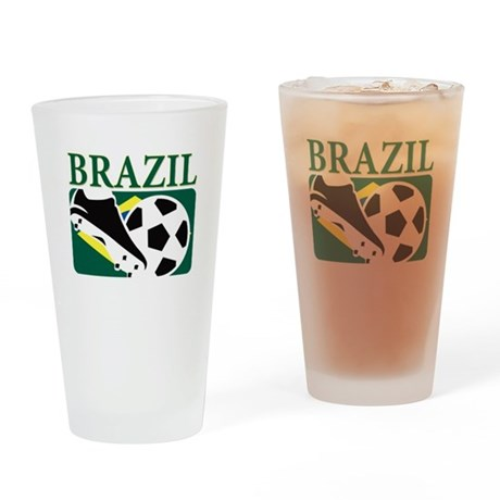 Brasil World Cup Soccer Drinking Glass