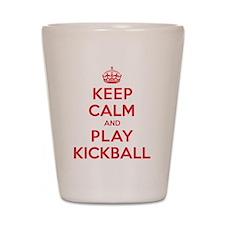 Keep Calm Play Kickball Shot Glass