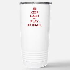 Keep Calm Play Kickball Travel Mug