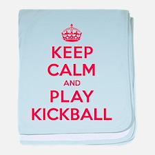 Keep Calm Play Kickball baby blanket
