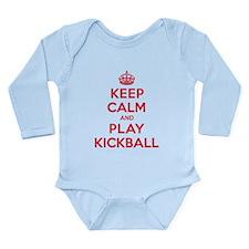 Keep Calm Play Kickball Long Sleeve Infant Bodysui