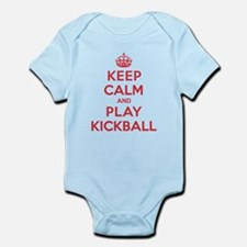 Keep Calm Play Kickball Infant Bodysuit