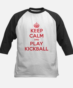Keep Calm Play Kickball Kids Baseball Jersey