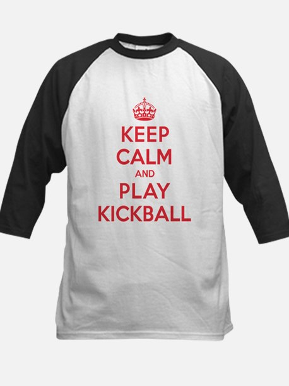Keep Calm Play Kickball Kids Baseball Jersey