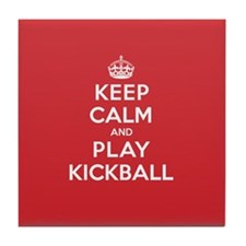 Keep Calm Play Kickball Tile Coaster